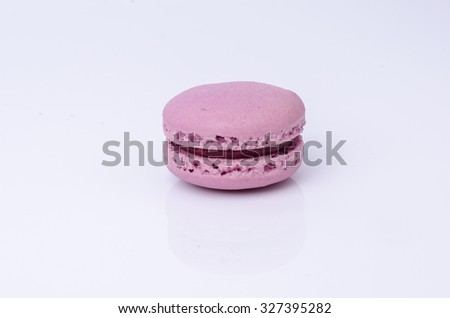 colorful macarons isolated on white