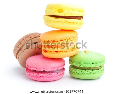 Colorful macaroon - stock photo