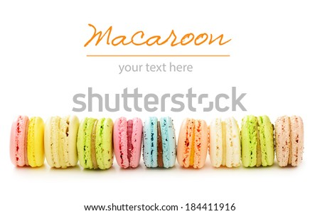 Colorful macaroon cake  - stock photo