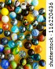 Colorful marble balls background - stock photo