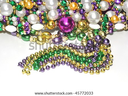 Colorful Mardi Gras Beads