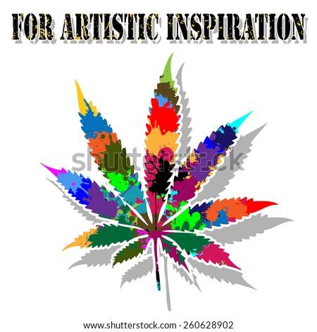 Colorful marijuana - stock photo