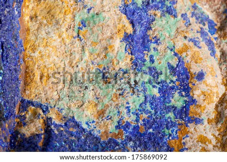 Colorful mat malachite surface in close up - stock photo