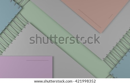 Colorful material design style pattern.  3d illustration - stock photo