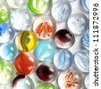 Colorful matted glass stones - stock photo