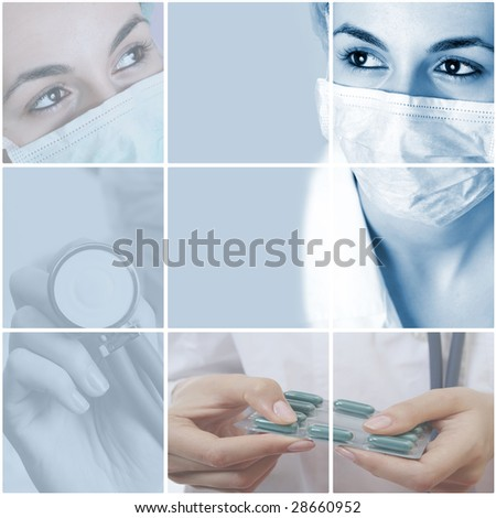 colorful medical collage made from great photographs