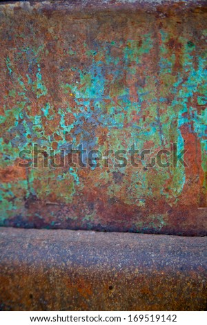 Colorful Metal Corrosion - stock photo