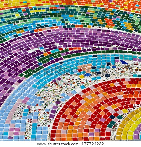 Colorful mosaic background.  - stock photo
