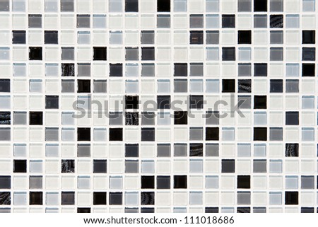 Colorful mosaic background on wall - stock photo