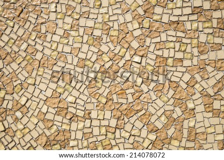 Colorful mosaic background texture outdoor