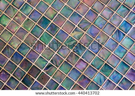 Colorful mosaic wall background - stock photo