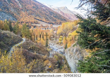 colorful mountain landscapes, fall colors, mountains, sky and water