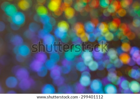 Colorful multicolored and blurred circles as an abstract background texture