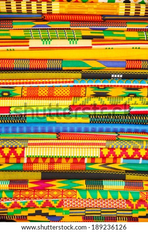 Colorful native style cloth, taken in Ghana, West Africa