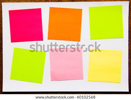 Colorful note on an isolated background. - stock photo