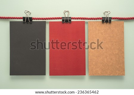 Colorful notes paper    - stock photo