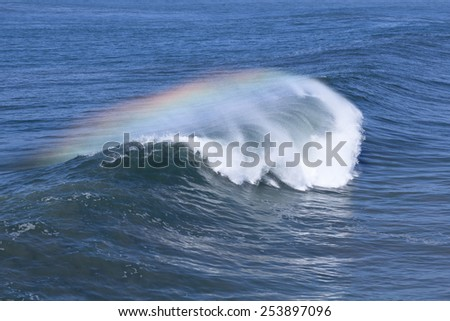 Colorful Ocean wave, Huntington Beach California. - stock photo