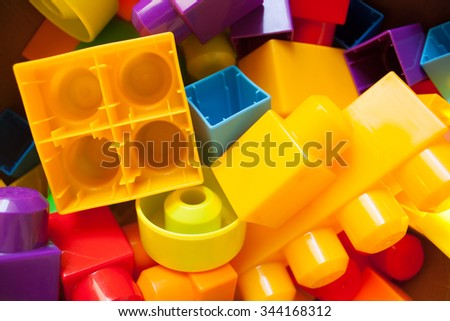 Colorful of Baby blocks toy background