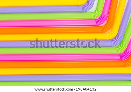 colorful of drinking straw background - stock photo