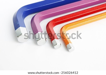 Colorful of hex wrench tool kits