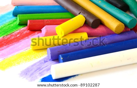 colorful of Oil Pastel Crayons