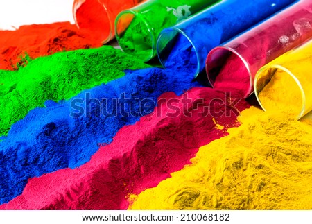 colorful of powder coating. - stock photo