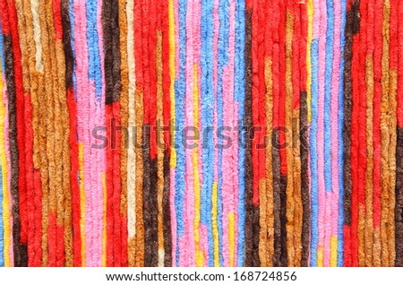 Colorful of Rope background - stock photo