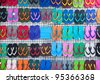 colorful of sandal - stock photo