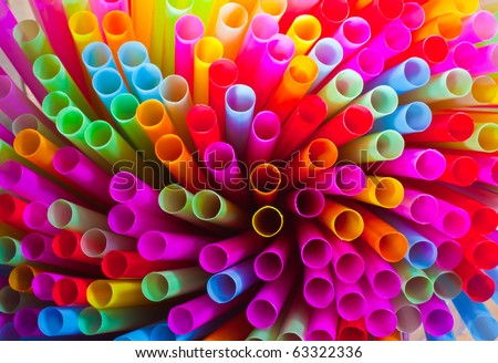 colorful of straw - stock photo