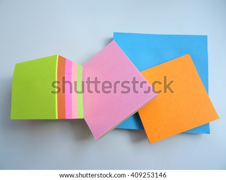 Colorful Office Paper Notes