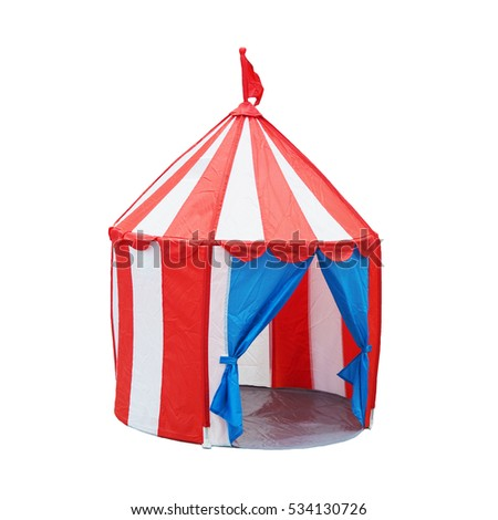 Colorful opened children circus tent with flag on top isolated on white background with clipping path  sc 1 st  Shutterstock & Circus Tent Small Size Childrens Play Stock Photo 614515946 ...