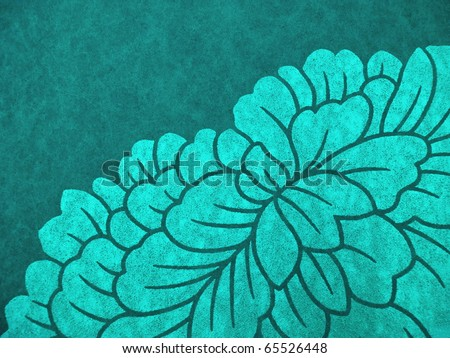 Colorful oriental style decorative parchment. More of this motif & more decors in my port. - stock photo