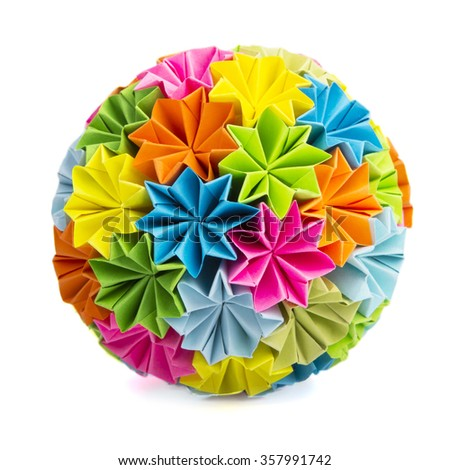Colorful origam - stock photo