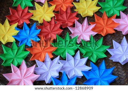 Colorful origami - stock photo