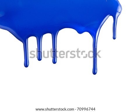 colorful paint dripping isolated on white background - stock photo