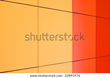 Colorful panels. Perspective view of color boards. Abstract geometrical background - stock photo