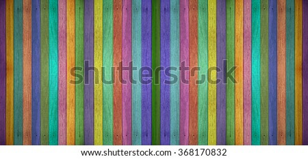 Colorful panorama wooden background. - stock photo