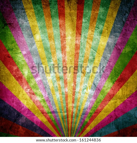 Colorful paper background with stripes - stock photo