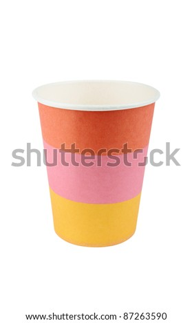 Colorful Paper Cup - stock photo