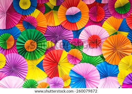 Fan Pictures to Color Colorful Paper Fan Stock