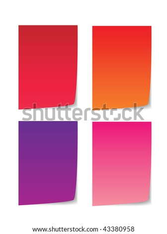 colorful paper for message