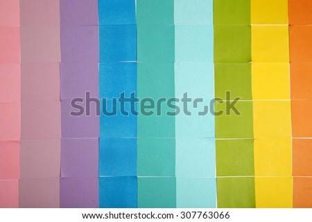 Colorful paper notes background - stock photo