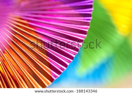 Colorful party deco made from Aluminum, close up - stock photo