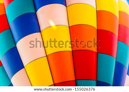 Colorful patterns of a hot air balloon - stock photo