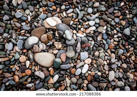 Colorful pebbles  - stock photo