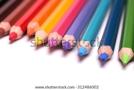 colorful pencils - stock photo