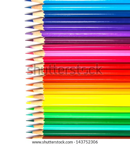 colorful  pencils for background