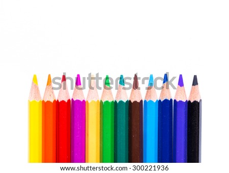 Colorful pencils isolated