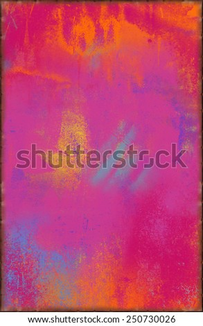 Colorful Pink Texture with Rusty Seams Along Edges (Part of Vibrant Metal Textures set, which includes 12 textures that fit together perfectly to form a huge image. No noise, even lighting.) - stock photo