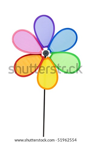 Colorful Pinwheel, clipping path included - stock photo